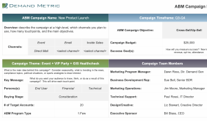 ABM Campaign Planning Tool