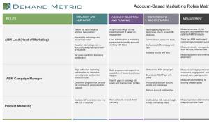 ABM Team Roles Matrix Template