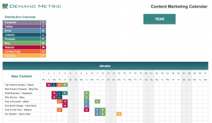 Content Marketing Editorial Calendar 2021