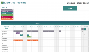 Employee Holiday Calendar 2021