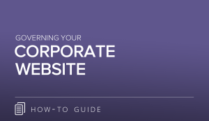 Governing Your Corporate Website