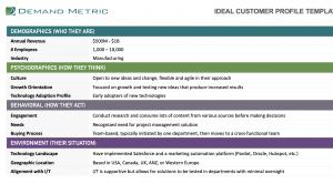 Ideal Customer Profile Template ICP Template