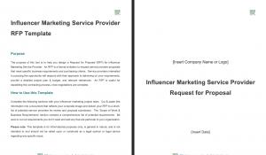 Influencer Marketing Service Provider RFP Template