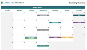 Marketing Calendar Template 2020