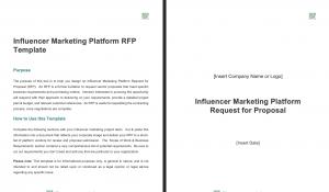 Influencer Marketing Platform RFP Template