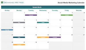 Social Media Marketing Calendar 2020