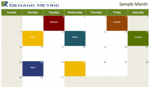 social media marketing calendar 2013
