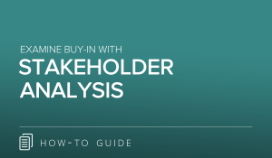 Examine Buy-In with Stakeholder Analysis