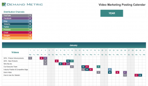 Video Marketing Posting Calendar 2021