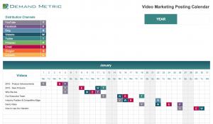 Video Marketing Posting Calendar 2022