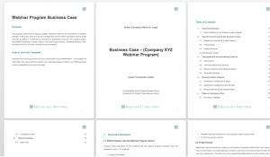 Webinar Program Business Case Template