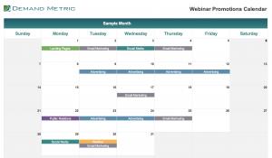 Webinar Promotions Calendar 2020