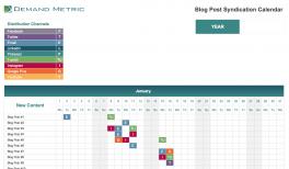 Blog Post Syndication Calendar 2021