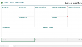 Business Model Canvas Template (Excel)
