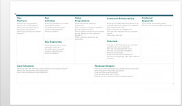 Business Model Canvas Template (Word)