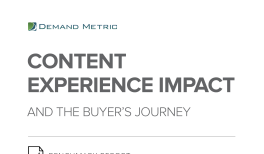 Content Experience Impact and the Buyer's Journey