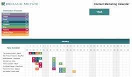 Content Marketing Editorial Calendar 2019 Demand Metric