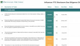 Influencer FTC Disclosure Due Diligence Checklist