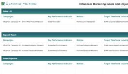 Influencer Marketing Service Provider RFP Template | Demand Metric