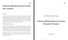 Influencer Marketing Service Provider RFP Template