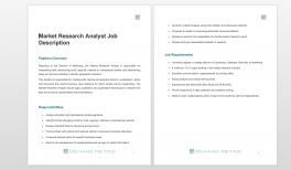 Market Research Analysis Template Demand Metric