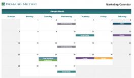 Marketing Calendar Template 2020