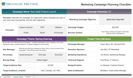marketing campaign planning checklist