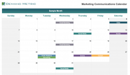 Marketing Communications Calendar 2021