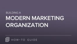 The Modern Marketing Organization