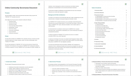 Online Community Governance Document