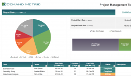 project budget template demand metric