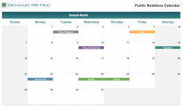 Public Relations Calendar 2021