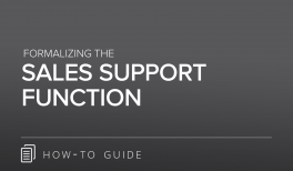 Formalizing the Sales Support Function