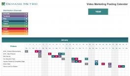 Video Marketing Posting Calendar 2021