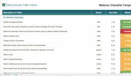 Webinar Checklist Template