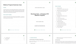 Webinar Program Business Case Template