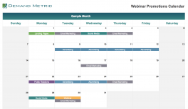 Webinar Promotions Calendar 2021